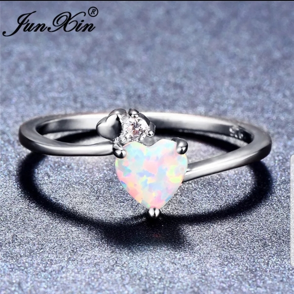 5MM Petite 925 Sterling Silver HEART Casual Ring SZ 7